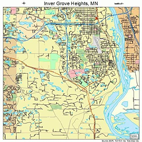 Amazon.com: Large Street & Road Map of Inver Grove Heights ...