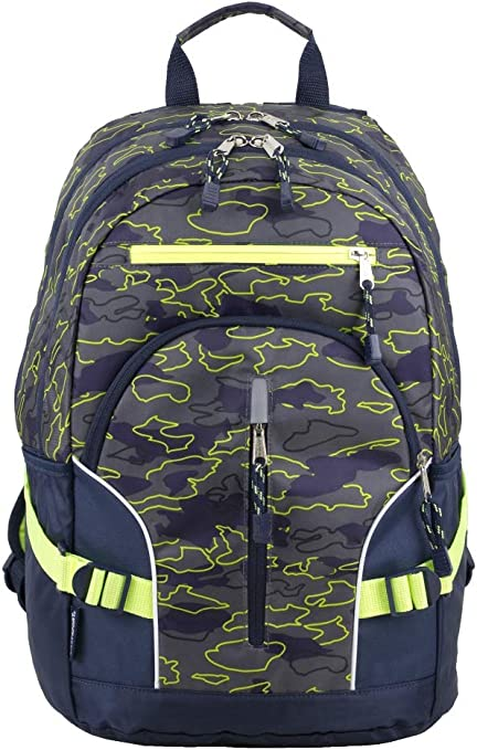New Eastsport Tech Company Green Backpack double zippers lots of compartments