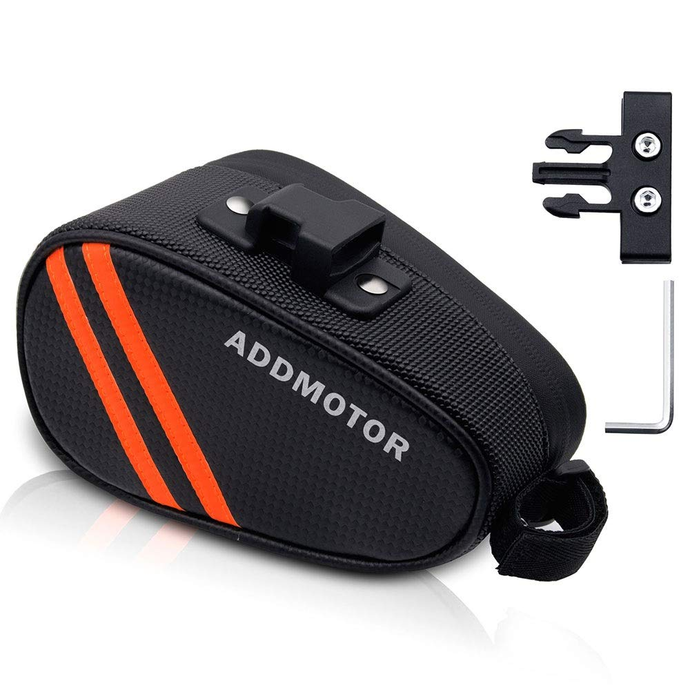 Addmotor Sport Strap-On Bike Seat Storage Bag Wedge Saddle for Cycling with Quick Release Locks Waterproof