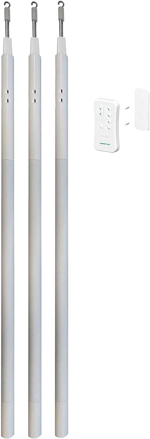 E-Wand Starter Kit- White (3 E Wands and 1 Remote) to Motorize and Automate Existing Blinds- Retrofit Motorized Blinds
