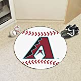 "Fan Mats 6510 MLB - Arizona Diamondbacks 29"" Diameter Baseball Shaped Area Rug"
