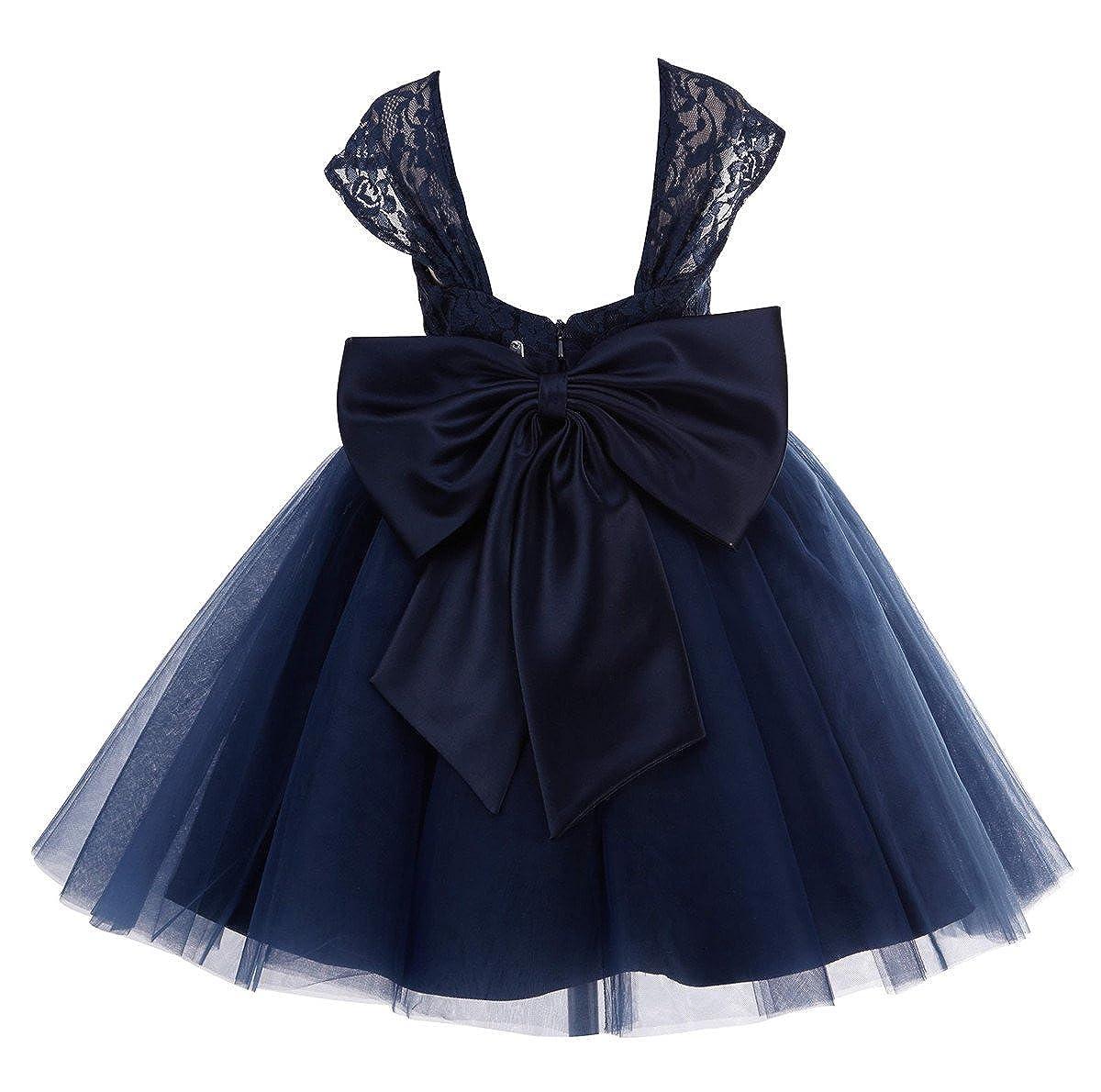 69e3ac2919a Amazon.com  princhar Lace Tulle Flower Girl Dress Wedding Party Formal Girl  Dress  Clothing