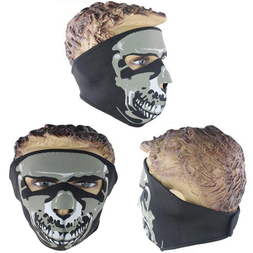 militaire Jiacheng29 Masque int/égral avec motif graphique d/'assassin et de t/ête de mort ski sport cyclisme neige moto Pour plein air