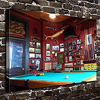 COLORSFORU Wall Art Painting Billiards Prints On Canvas The Picture  Landscape Pictures Oil For Home Modern