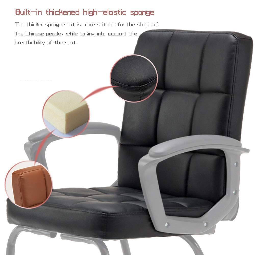 JIEER-C stol läder skrivbord spelstol ett stycke armstöd ergonomisk hög rygg kontor dator stol med massagefunktion för student sovsal sovrum, B b