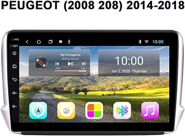 Navegador GPS para Coche, Reproductor Multimedia para Coche Android 9.0 con Pantalla de 10.1 Pulgadas, para PEUGEOT 2008 208 2014-2018, Bluetooth Radio para Entretenimiento,Wifi 2g+32g: Amazon.es: Coche y moto