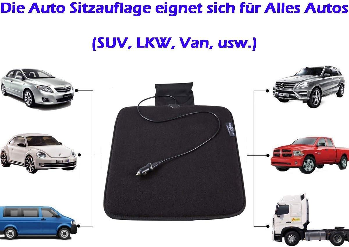 Schwarz-2 St/ück Big Ant Weich Sitzauflagen Auto Autositzberz/üge Sitzkissen Auto Sitzauflagen Sitzbezug f/ür Auto Vordersitze mit PU-Leder