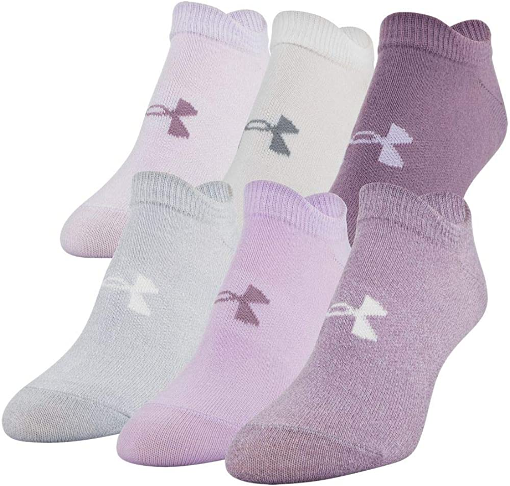 Under Armour Women's Essential 2.0 No Show Socks, 6-Pair