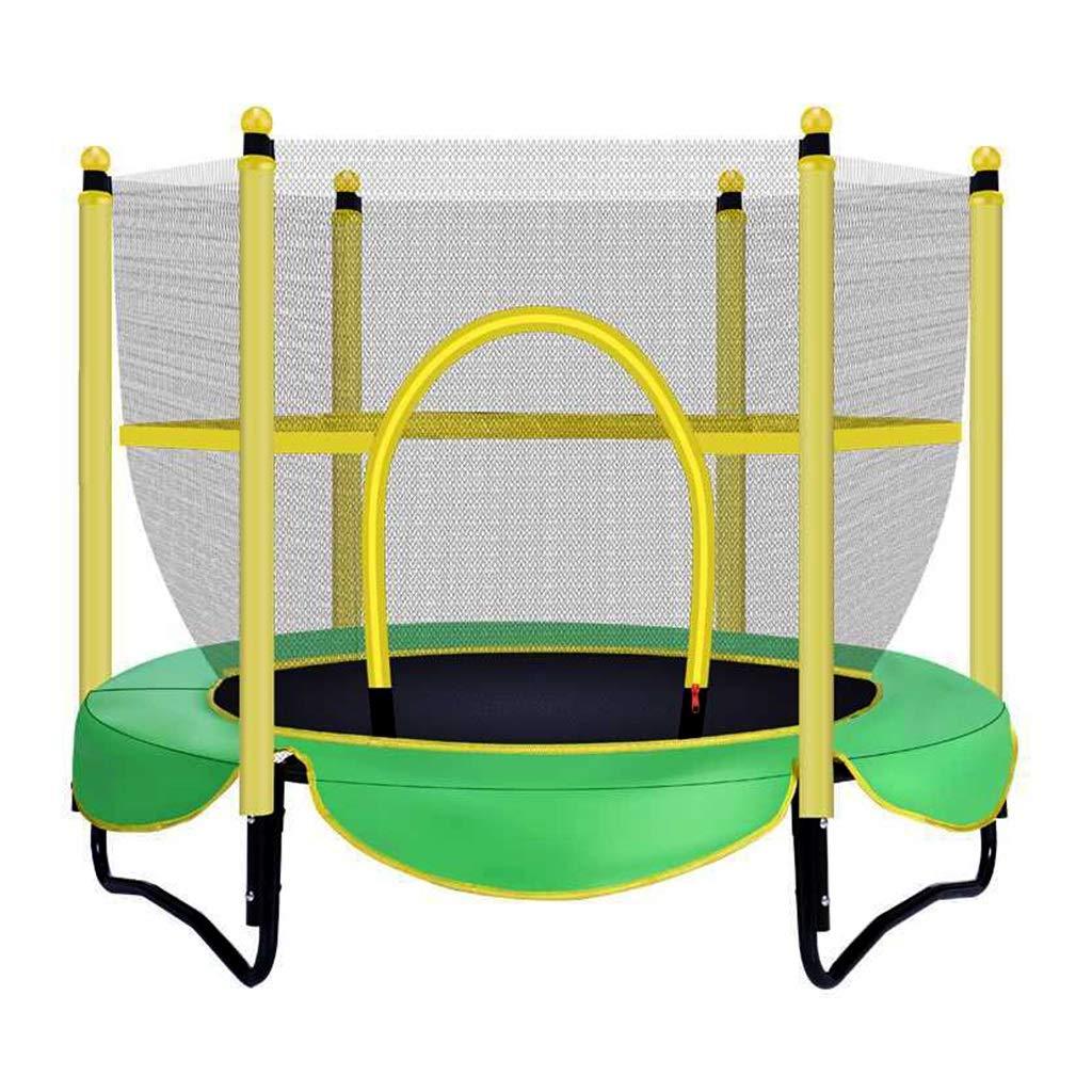 Übungs-Trampolin Gartentrampoline Indoor Kinderunterhaltung Trampolin Heim Mini Trampolin Kinder mit Schutznetz Outdoor Spielzeug springen Bett, Gewicht ca. 100kg Trampoline