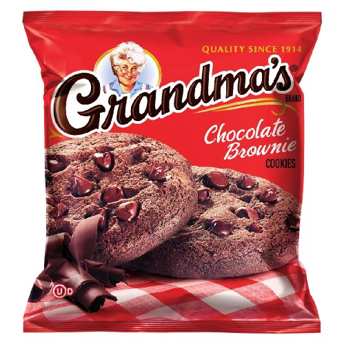 Chocolate Brownie Cookie Chip (Grandma's Chocolate Brownie Cookies, 2.5 Ounce (Pack of 60))