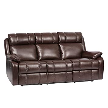 Beau BestMassage Recliner Sofa Leather Sofa Recliner Couch Manual Reclining Sofa  Recliner Chair, Love Seat,