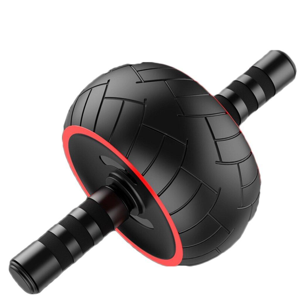 Roller Fitness Rad Bauch Übung Roller Bauch Core Fitness Trainer Exerciser Crunch Hause Gym Workout Trainingsgeräte Unisex Für Männer & Frauen Schwarz