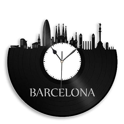 Barcelona Cataluna es vinilo reloj de pared paisaje urbano ...