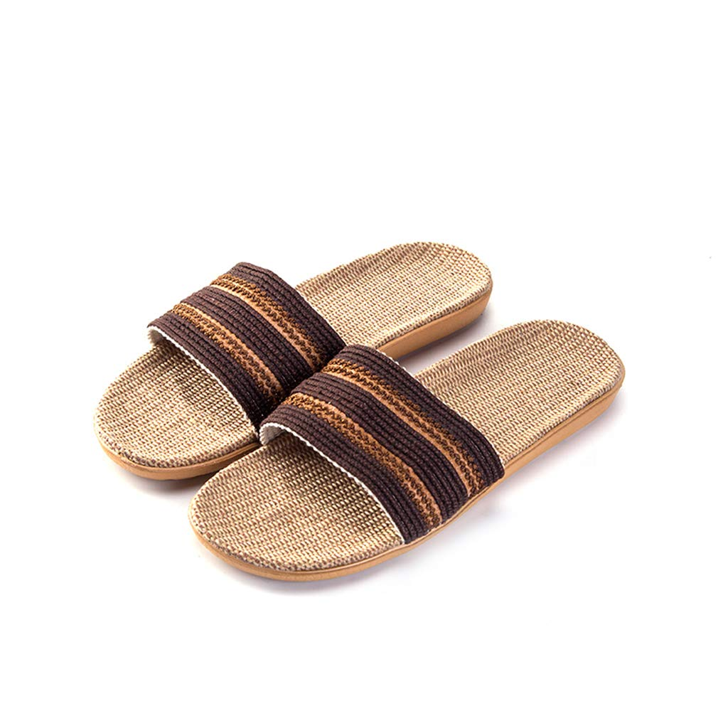 Style 5 AX-ATG Linen Slippers Summer Indoor Non-Slip Slippers Home Linen Ultra Light Slippers
