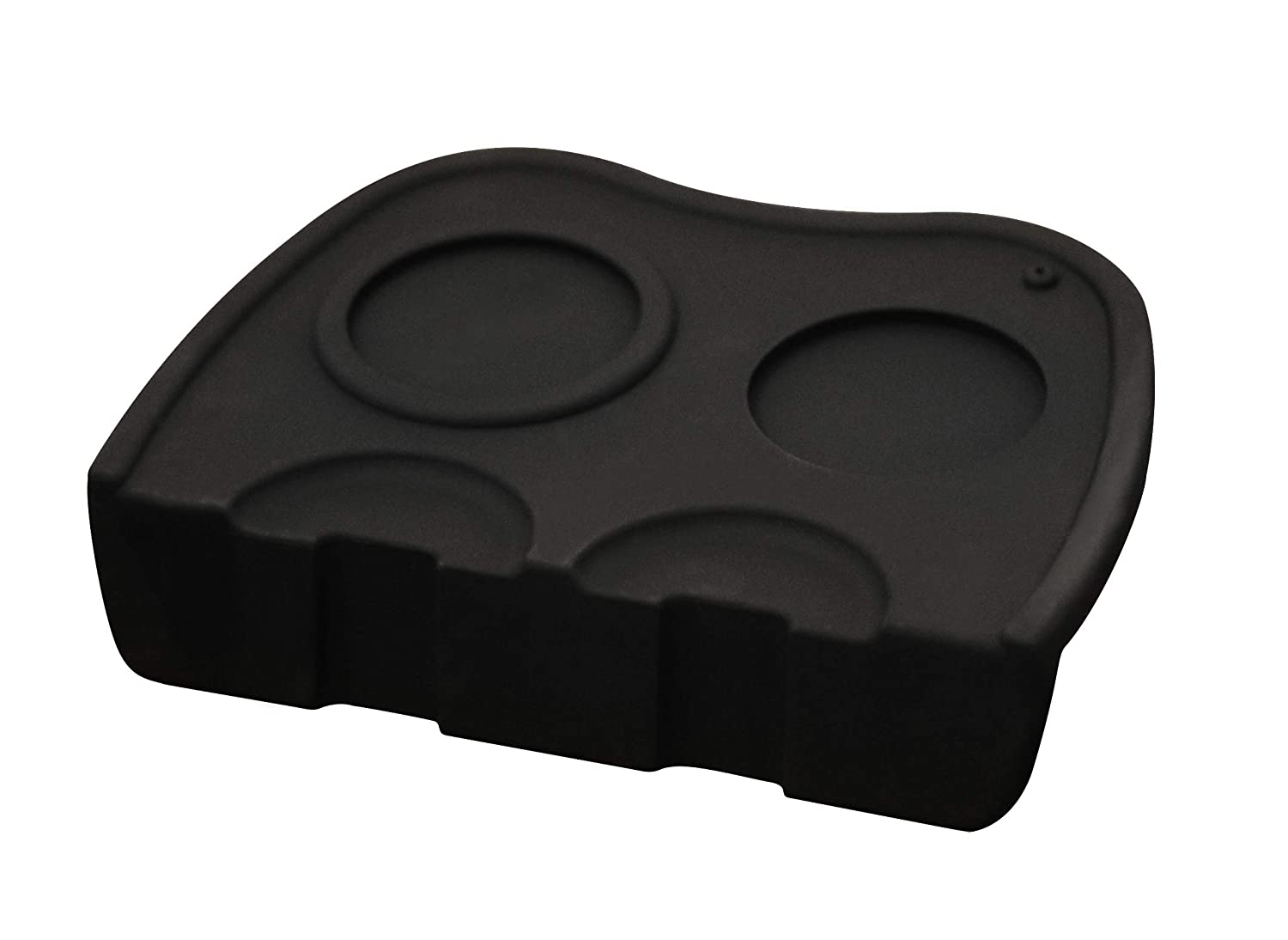 Deluxe Living Ltd - Silicone Espresso Coffee Tamper Stand Seat Mat Large Barista Tools for Tamping with The Portafilter Black - 5 Year Guarantee