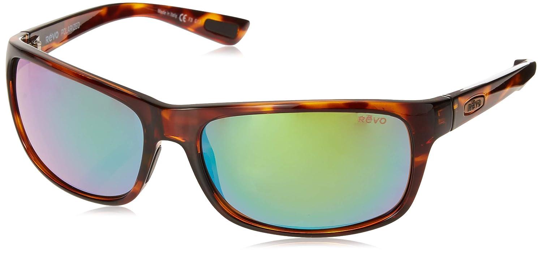 Revo Unisex Unisex RE 1061 Vapper Wraparound Polarized UV Protection Sunglasses Black Frame Graphite Lens Revo Sunglasses