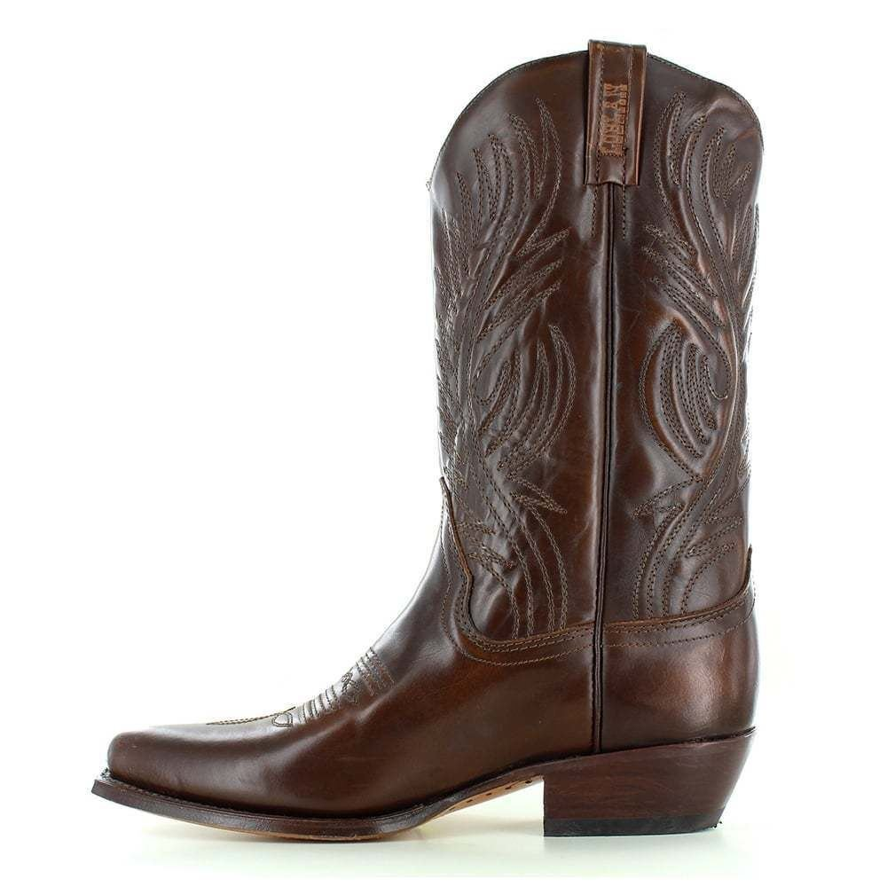 LOBLAN 194 Brown Whisky Leather Cowboy Boots Hand Made Classic Men/'s Western