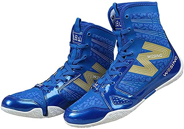 Boxing MMA Wrestling Shoes Trainers High Top Athletic Boots Martial Arts Unisex