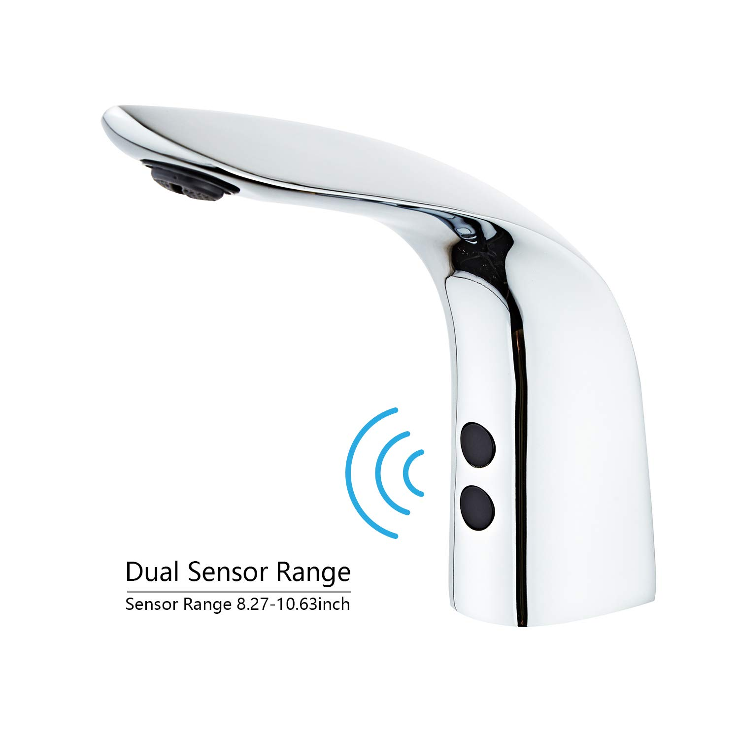 Automatic Sensor Faucet Touchless Bathroom faucet Motion Activated Sink Tap Electronic Hands Free Sink Faucet with Sensor Module Chrome Polished