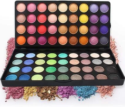 MWJK® Sombras de Ojos Kit, 72 colores paleta de sombra de ojos Profesional eyeshadow palette Paleta de Maquillaje Cosmética con Color Cálido y Frío Maquillaje Set Maquillaje Profesional Caja: Amazon.es: Belleza