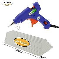 Wisfox mini elettrico pistola per colla a caldo con 50 pezzi di colla stick blu ad alta temperatura di fusione Glue Gun Trigger kit flessibile per progetti fai-da-te e kit di riparazione