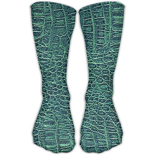Alligator Skin Seamless Green Texture Unisex Novelty Crew Knee High - Alligator Texture Skin