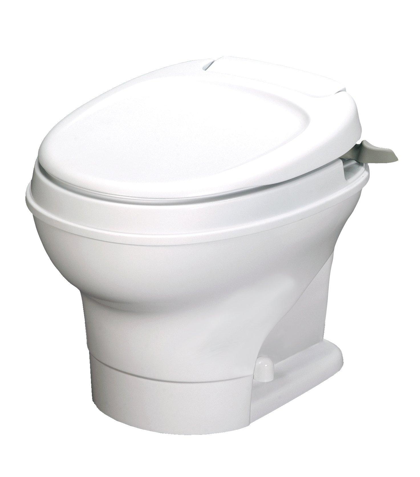Thetford Aqua-Magic V RV Toilet Hand Flush/High Profile/White - 31646 by Thetford