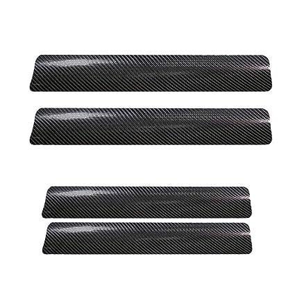 Juego de 4 pegatinas de fibra de carbono para el umbral de la puerta del coche, de Rungao