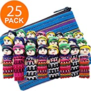 Worry Dolls Guatemala - 24 Super Cute Small Worry Dolls + 1 Free Guatemala Fabric Bag - Worry Doll - Guatemala