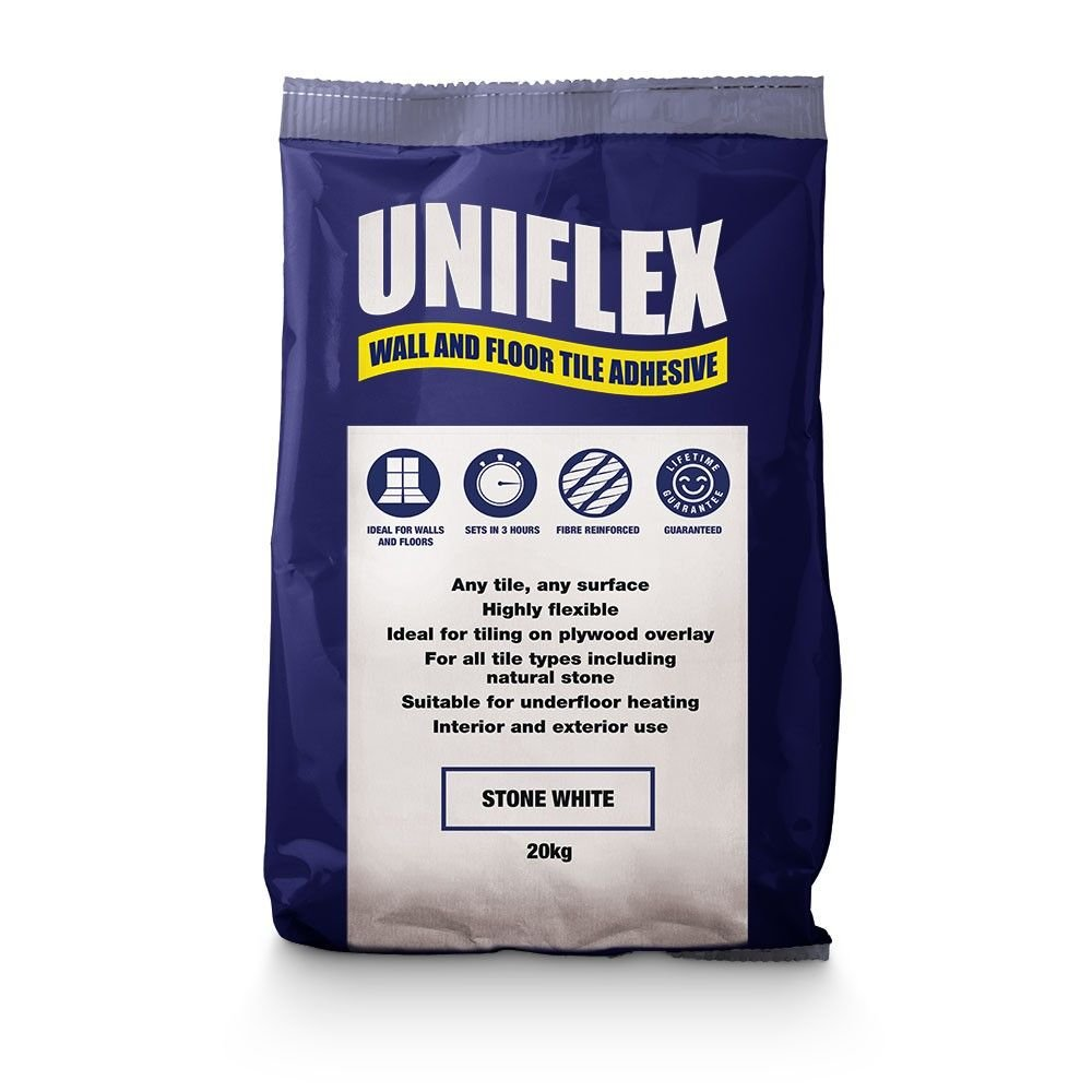 Uniflex White Wall Floor Tile Adhesive 20kg Here At Walls And