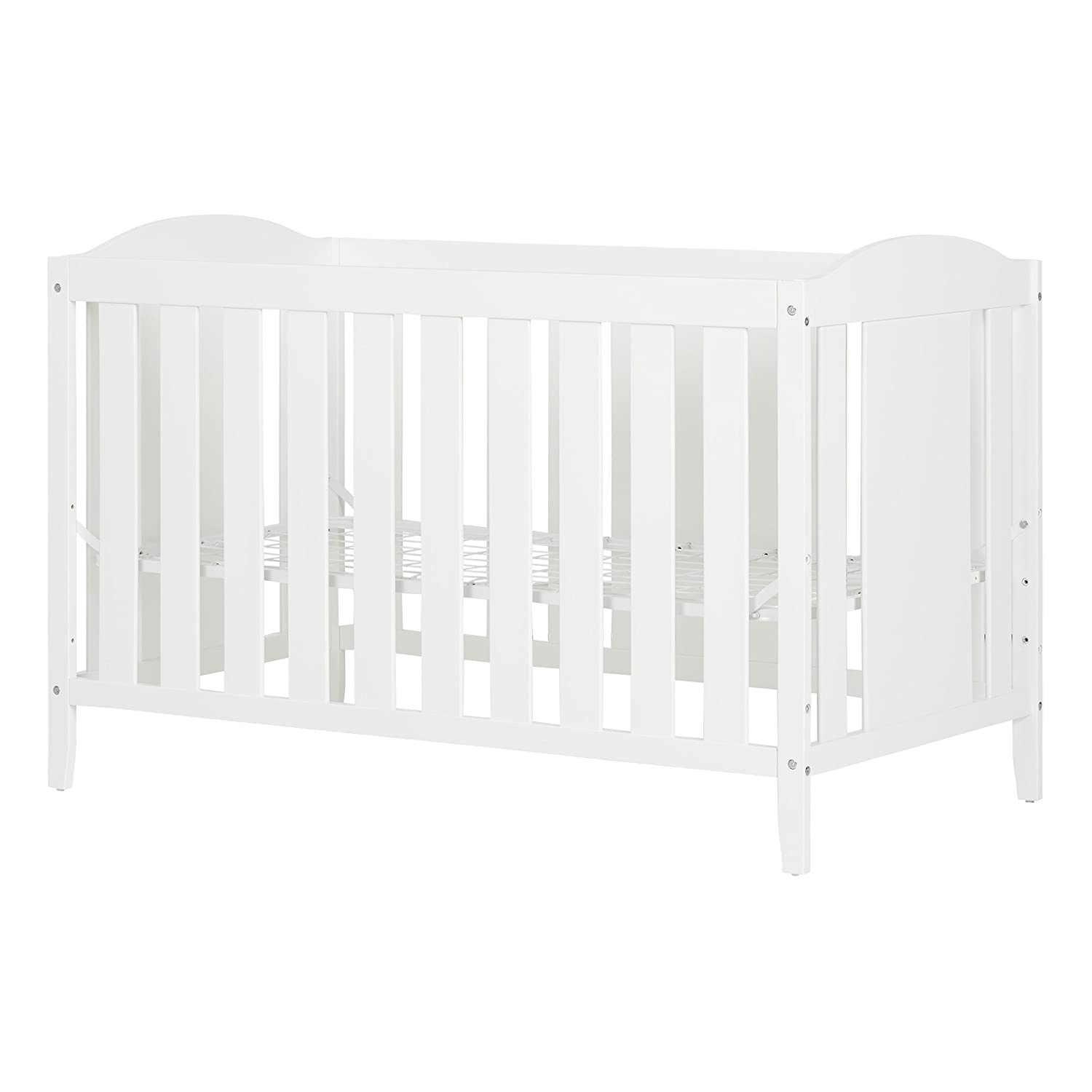 South Shore Furniture Reevo Crib and Toddler's Bed, Pure White 10721