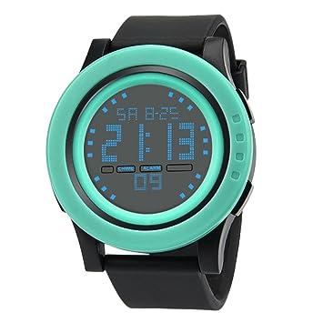 STRIR Reloj Deportivo Digital Para Hombre - Al Aire Libre 30 M Impermeable Militar Reloj Cronógrafo, Led y Alarma (Verde): Amazon.es: Deportes y aire libre