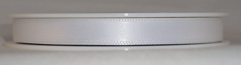 Nastro Bianco 25 M X 10 Mm Decorativo Nastro Raso Doppio