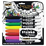 Sharpie 1779005 Stained Permanent Fabric Marker, Assorted, 8/Pack