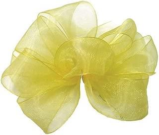 "product image for Offray Berwick LLC 424261 Berwick Simply Sheer Asiana Ribbon - 5/8"" W X 25 yd - Yellow Ribbon"