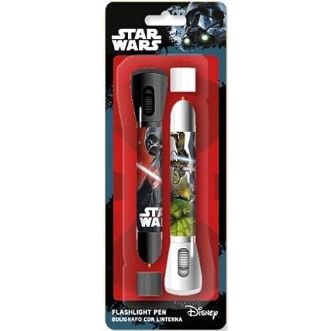 Star Wars 2 Stifte-Set mit Taschenlampe, UNICA (Kids Euroswan sw92292)