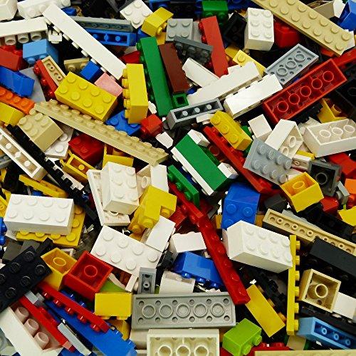 LEGO 200 Basic BAU Steine Bunt gemischt z.B. Rot Gelb Blau grün weiß Orange Schwarz grau (Blau Grau Grün)