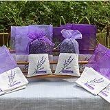 Lozom Sachet Empty Bags Purple Gauze Cotton-ramie