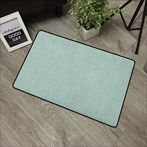 (Clear printed pattern door mat W16 x L24 INCH Ivory and Blue,Squares Rectangles and Spiral Lines Bicolor Geometric Composition, Pale Blue and Ivory Our bottom is non-slip and will not let the baby sli)