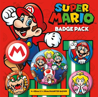 AMBROSIANA Pyramid International super Mario badge, multicolore, 10 x 12.5 x 1.3 cm BP80440 Gadget