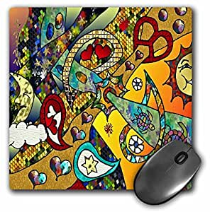 Lee Hiller Designs 60s Retro Psychedelic Print - Retro 60s Psychedelic Cycle Of Life Art Print - MousePad (mp_44960_1)
