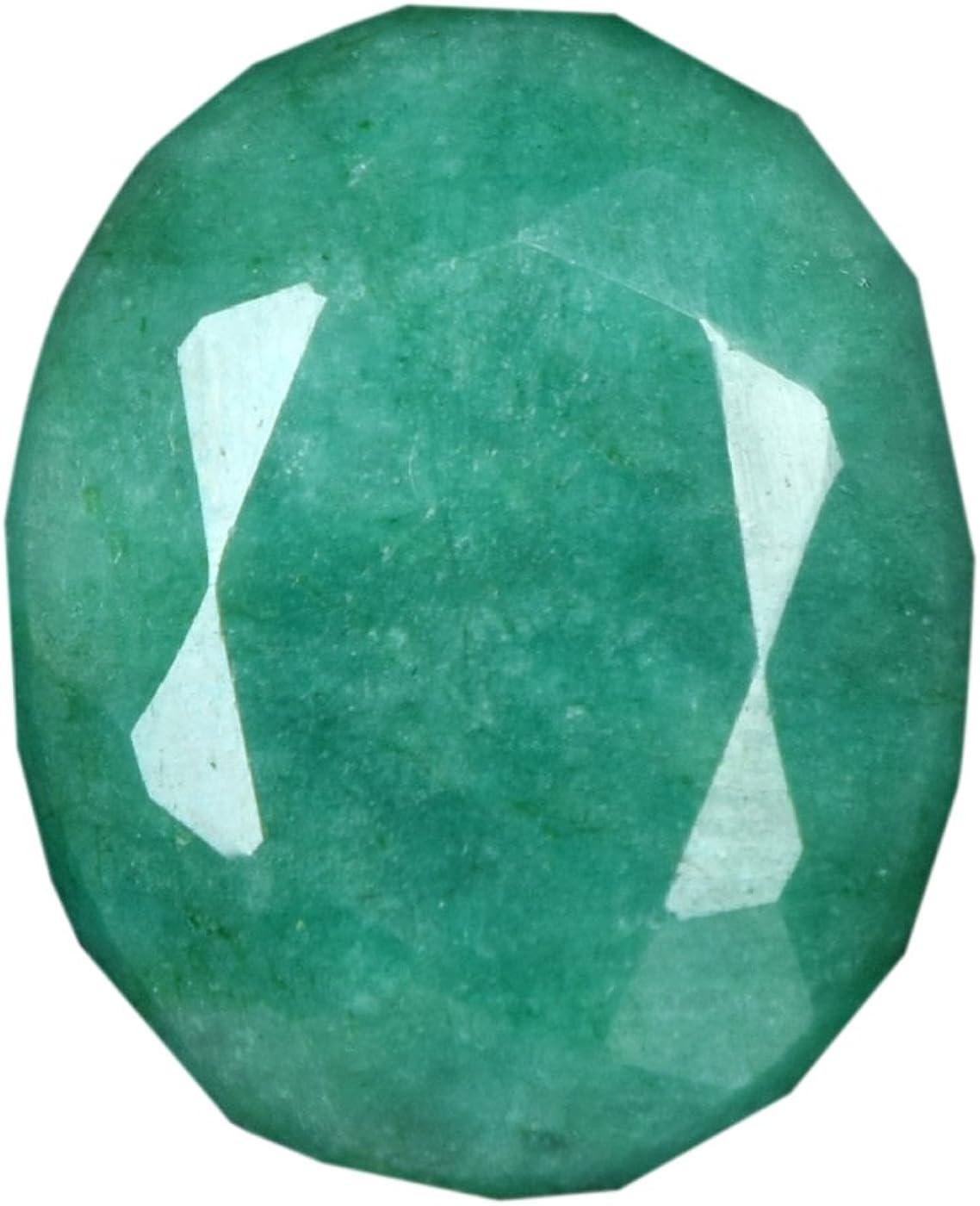 Gemhub Mayo Piedra del zodíacostone 20.50 Quilates. Piedra Preciosa Floja Esmeralda Cortada Oval Verde para el Colgante DD-876