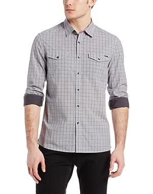 Men's Two Pocket Plaid Shirt