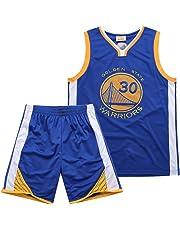 Warriors Curry 30th Jersey, Traje De Bordado Real, Juego De Camiseta De Baloncesto De Verano para Niño, Hombre
