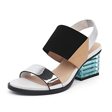67a984eba Image Unavailable. Image not available for. Color  Women Sandals Summer  Mixed Color Basic ...