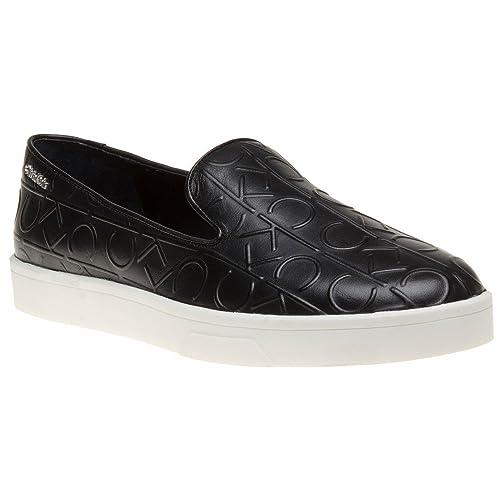 Calvin Klein Ilaina Mujer Zapatillas Negro: Amazon.es: Zapatos y complementos