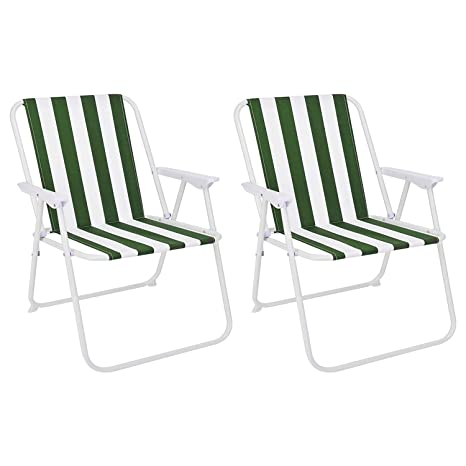 Mojawo - Juego de 2 sillas Plegables para Camping, diseño de ...
