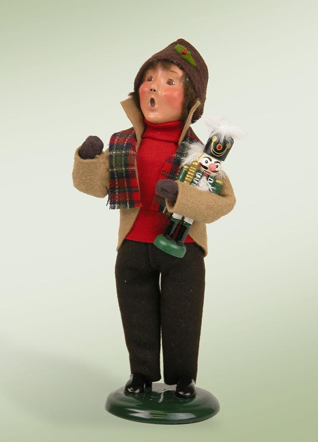 The Carolers 9'' Festive Seasons Boy with Nutcracker Christmas Figure