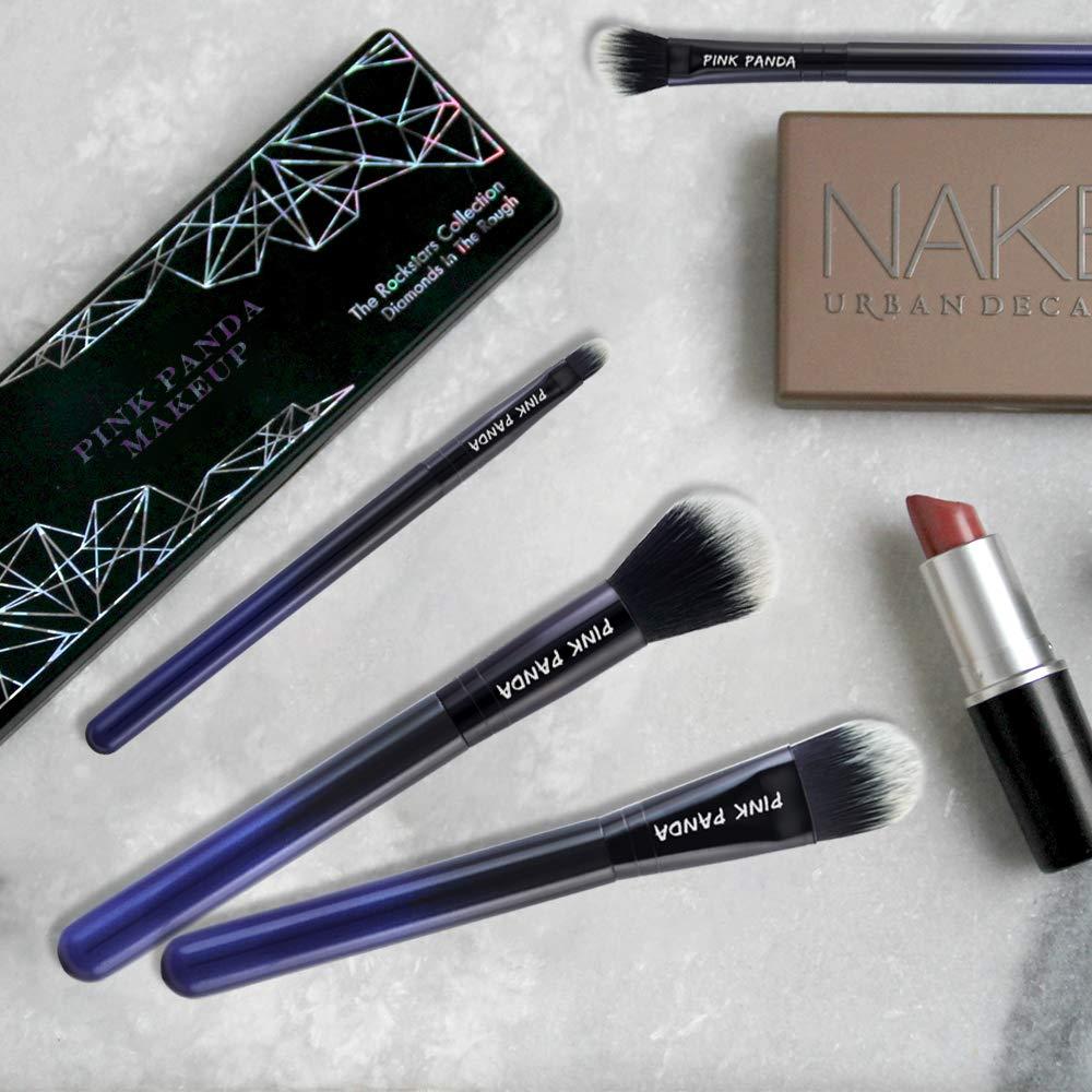 5cd473617e76 PINKPANDA Makeup Brushes 8 Pcs Noble Blue Professional Makeup Brush Set  Premium Cosmetic...