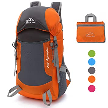 35L Ultraligera Plegable Senderismo Mochila, NATUCE Multifuncional Packable Impermeable Casual Camping Mochila de Deporte Al Aire Libre Escalada Montañero: ...